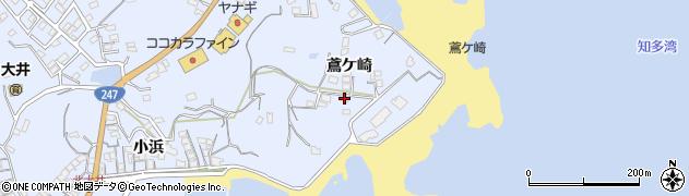 愛知県南知多町(知多郡)大井(鳶ケ崎)周辺の地図