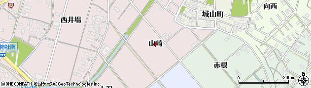 愛知県豊橋市駒形町(山崎)周辺の地図