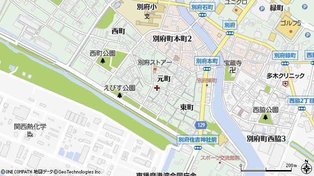 〒675-0134 兵庫県加古川市別府町元町の地図