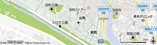 兵庫県加古川市別府町(元町)周辺の地図