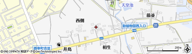 愛知県豊橋市藤並町周辺の地図