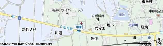 愛知県豊橋市中原町(岩西)周辺の地図