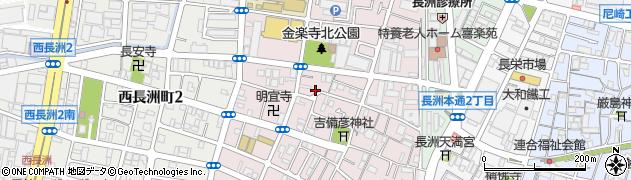 兵庫県尼崎市金楽寺町2丁目周辺の地図