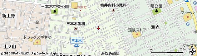 愛知県豊橋市三本木町周辺の地図