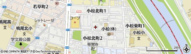 兵庫県西宮市小松北町周辺の地図