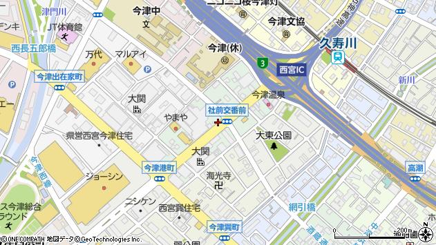 〒663-8229 兵庫県西宮市今津社前町の地図