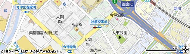 兵庫県西宮市今津社前町周辺の地図