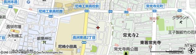 兵庫県尼崎市長洲東通周辺の地図