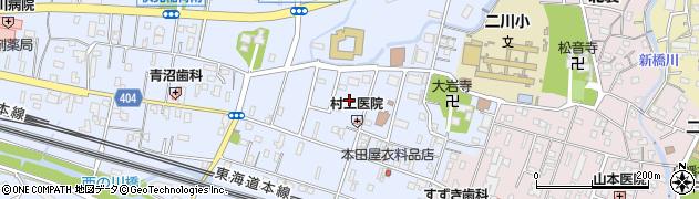 愛知県豊橋市大岩町(東郷内)周辺の地図