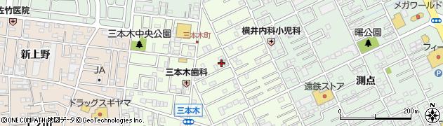 愛知県豊橋市三本木町(新三本木)周辺の地図