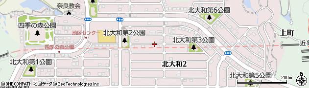 奈良県生駒市北大和周辺の地図