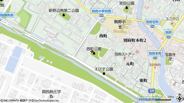 〒675-0133 兵庫県加古川市別府町西町の地図