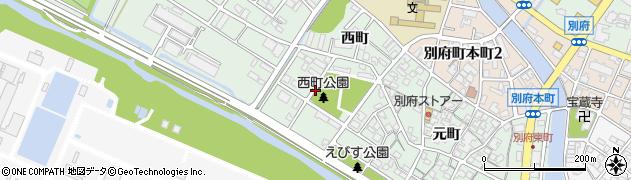兵庫県加古川市別府町(西町)周辺の地図