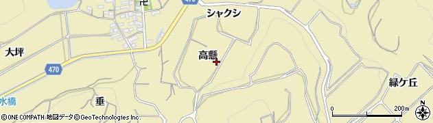 愛知県南知多町(知多郡)山海(高懸)周辺の地図