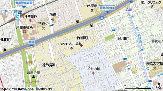 〒659-0055 兵庫県芦屋市竹園町の地図