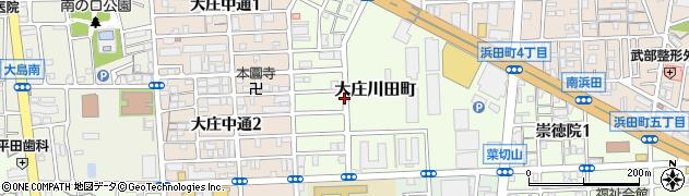 兵庫県尼崎市大庄川田町周辺の地図