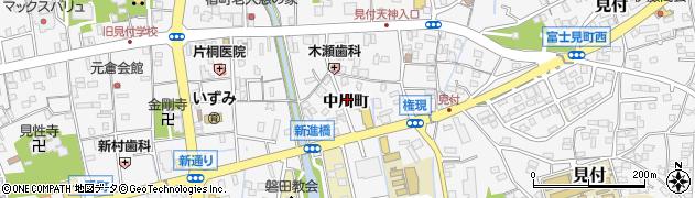 静岡県磐田市中川町周辺の地図