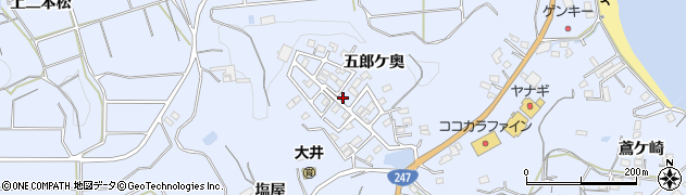 愛知県南知多町(知多郡)大井(五郎ケ奥)周辺の地図