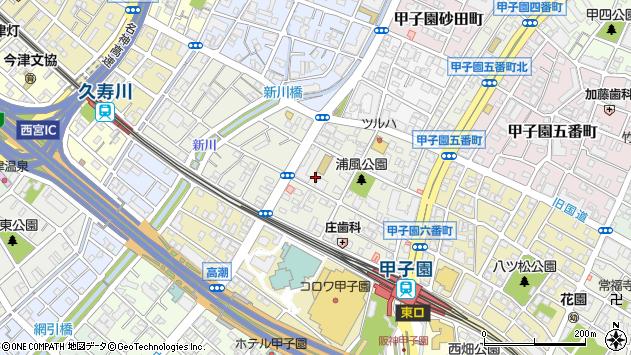 〒663-8165 兵庫県西宮市甲子園浦風町の地図