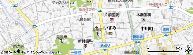 静岡県磐田市天王町周辺の地図