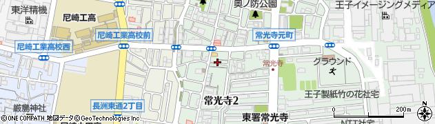兵庫県尼崎市常光寺2丁目周辺の地図