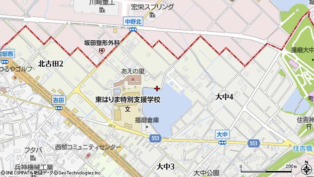 〒675-0148 兵庫県加古郡播磨町北古田の地図