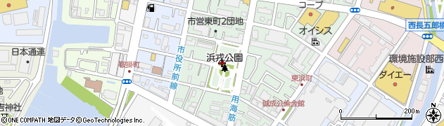 兵庫県西宮市東町周辺の地図
