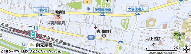 愛知県豊橋市大岩町(西郷内)周辺の地図
