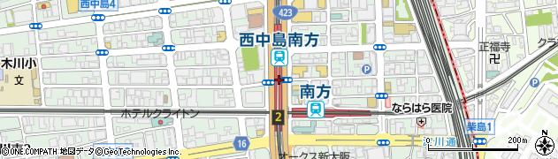 大阪府大阪市淀川区西中島周辺の地図