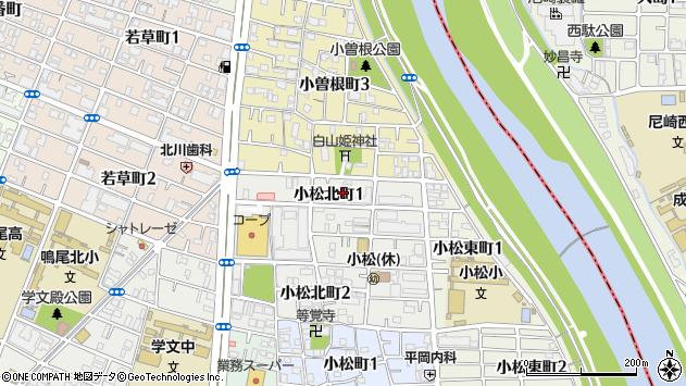 〒663-8126 兵庫県西宮市小松北町の地図