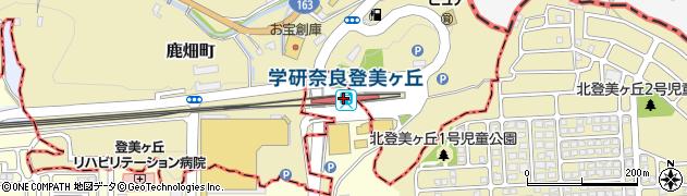 奈良県奈良市周辺の地図