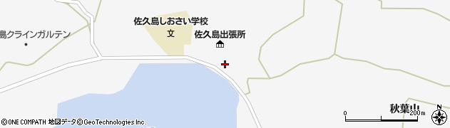 愛知県西尾市一色町佐久島(影無)周辺の地図