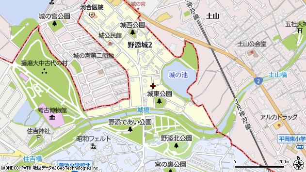 〒675-0141 兵庫県加古郡播磨町野添城の地図