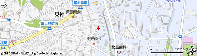 静岡県磐田市富士見台周辺の地図