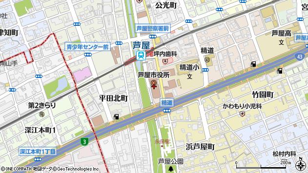 〒659-0000 兵庫県芦屋市(以下に掲載がない場合)の地図