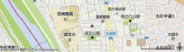 兵庫県尼崎市大島2丁目周辺の地図