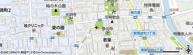 難波八幡神社周辺の地図