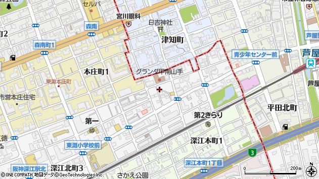 〒658-0013 兵庫県神戸市東灘区深江北町の地図