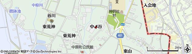 愛知県豊橋市中原町(中ノ谷)周辺の地図