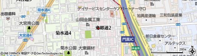 大阪府守口市東郷通周辺の地図