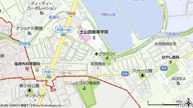 〒675-1112 兵庫県加古郡稲美町六分一の地図