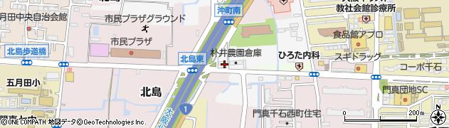 大阪府門真市野口周辺の地図