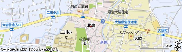 愛知県豊橋市二川町(北裏)周辺の地図