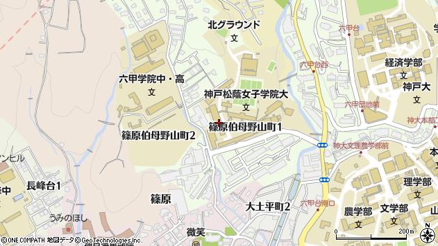 〒657-0015 兵庫県神戸市灘区篠原伯母野山町の地図
