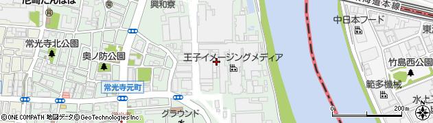 兵庫県尼崎市常光寺4丁目周辺の地図