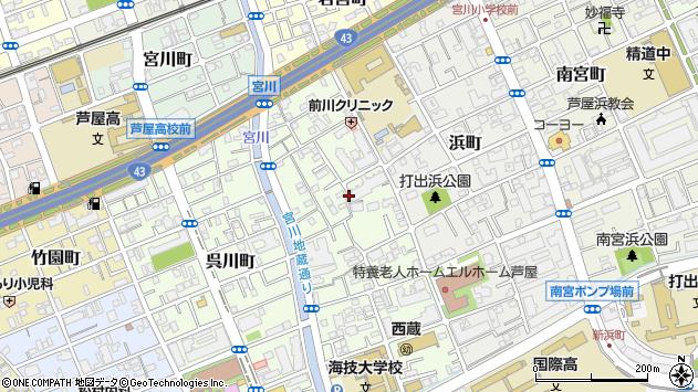 〒659-0026 兵庫県芦屋市西蔵町の地図