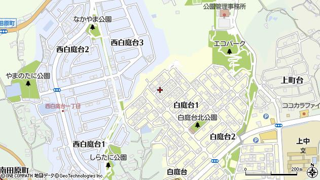〒630-0136 奈良県生駒市白庭台の地図