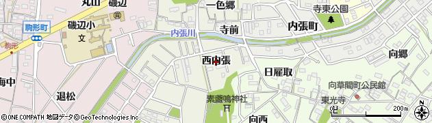 愛知県豊橋市一色町(西内張)周辺の地図