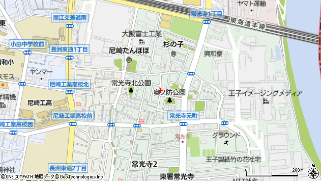 〒660-0811 兵庫県尼崎市常光寺の地図