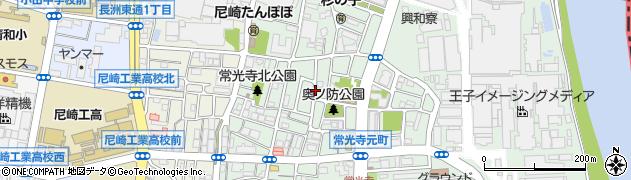 兵庫県尼崎市常光寺1丁目周辺の地図